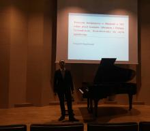 """6 grudnia 2017. Konferencja i recital """"Twórczość fortepianowa w Hiszpanii w XIX wieku przed Izaakiem Albenizem i Enrique Granadosem""""."""